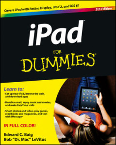 iPad for Dummies top selling 'Dummy' book