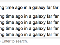 Look what Google has done with Star Wars