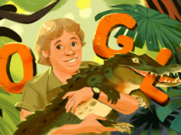 Google Celebrates Steve Irwin